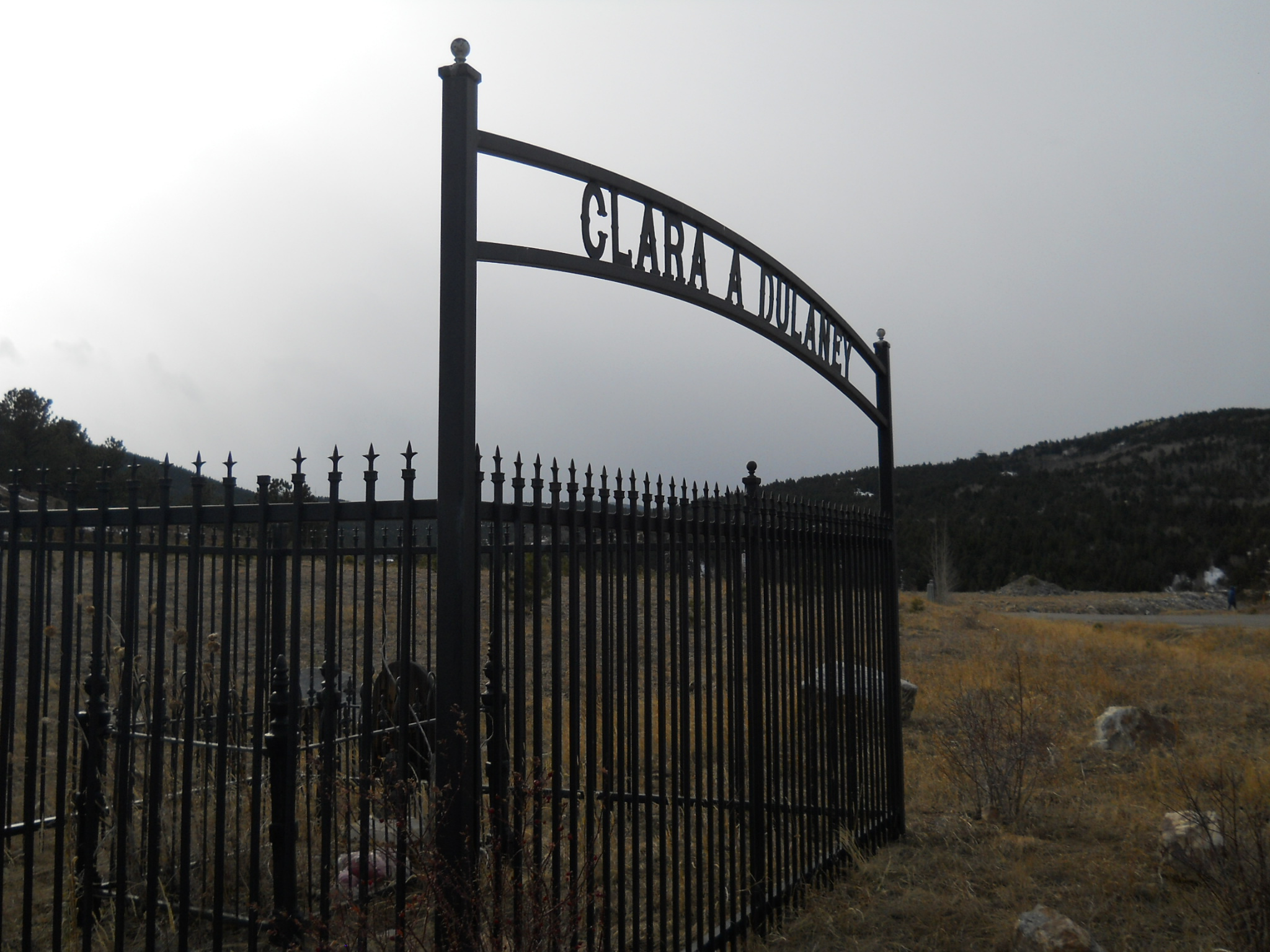 Iron fenced gravesite