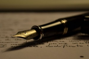 A Stipula fountain pen lying on a written piece of paper, Power_of_Words_by_Antonio_Litterio.jpg: Antonio Litterio