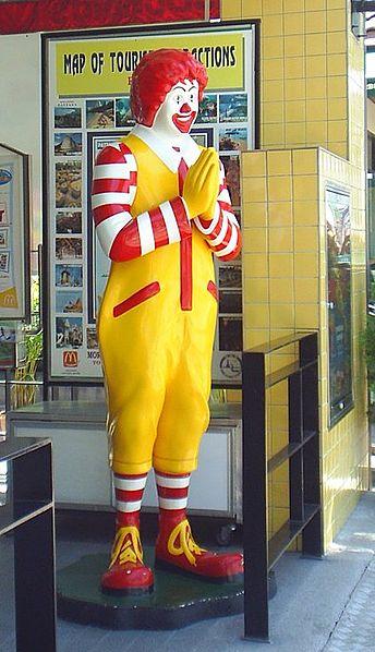 A statue of Ronald McDonald